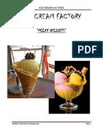 ICE CREAM FACTORY FINAL REPORT