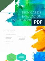 Técnicas de evaluación psicodiagnóstica