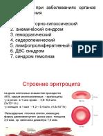 Занятие 10. Синдромы при заболеваниях органов кроветворения