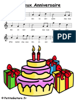 Joyeux-Anniversaire-Partition- guitar