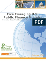Powering Clean-Tech Economic Growth and Job Creation - Public Finance Models