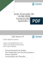 AULAS GRAVADAS PARA MODELAGEM E ORGANIZAÇÃO DE DADOS