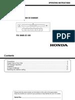 HONDA 6 Disc In-Dash CD Changer