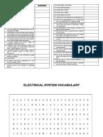 SOPA DE LETRAS ELECTRICAL SYSTEMS