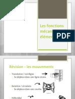 Fonctions Mécaniques Notes