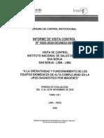 INFORME DE VISITA DE CONTROL Nº 0025-2020-OCI-6032-SVC