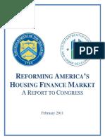 Reforming America's Housing Finance Market (Final -- Feb 2011)