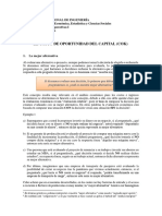2.2 EL COSTO DE OPORTUNIDAD DEL CAPITAL (COK)