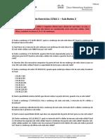 CCNA 1 – Lista 2 – Sub-redes