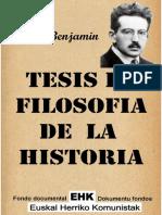 Tesis de filosofía de la historia