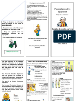 folleto de elementos de protección personal en ingles