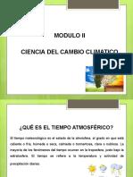MODULO II CIENCIA CAMBIO CLIMATICO