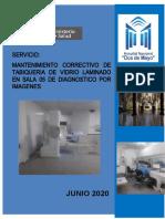 TDR MAMPARA RADIOLOGIA-VIDRIOS LAMINADOS