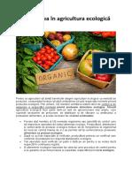 Încrederea în agricultura ecologică