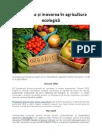 Cercetarea și inovarea în agricultura ecologică