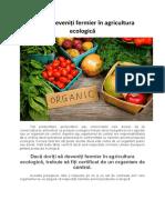 Cum să deveniți fermier în agricultura ecologică