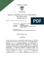 Sentencia de primera instancia sobre acción popular de Felipe Zuleta por ZFO
