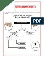 3. GRAMATICA - EL SIGNO LINGUISTICO (retroalimentación)
