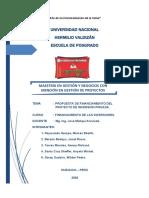 PROPUESTA DE FINANCIAMIENTO curso financiamiento de inversionaes unehval