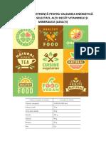 CONSUMUL DE REFERINȚĂ PENTRU VALOAREA ENERGETICĂ ȘI NUTRIENȚI SELECTAȚI, ALȚII DECÂT VITAMINELE ȘI MINERALELE (ADULȚI)
