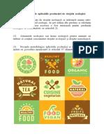 Norme generale aplicabile producției de drojdie ecologică