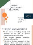 Nursing management planning