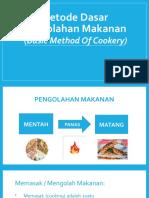 PPT - Metode Dasar Pengolahan Makanan