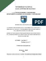 tesis desarrollo del sector agricola