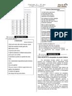 Simulado 25  (Port. 9º ano - Blog do Prof. Warles)