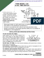 Tork-1101-manual
