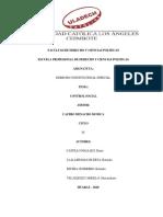 ACTIVIDAD N° 11 - DERECHO CONSTITUCIONAL ESPECIAL - CONTROL CUIDADANO. DDCP.