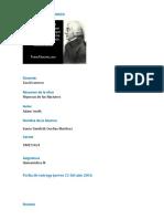humanistica Irania Adam Smith Resumen