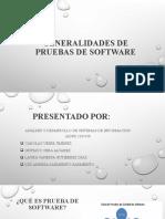 Generalidades de pruebas de software