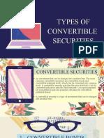 Convertible Securities Report - Paula Rodalyn Mateo