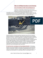 Sustainability in Coal Mining Operations