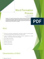 Hindi Word Formation Process