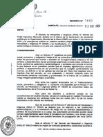 Decreto Vuelta Turismo Santa Fe