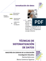 Sistematización de datos