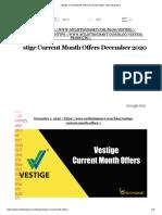 ?Vestige Current Month Offers December 2020 - My Listing Mart