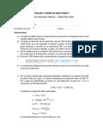 EXAMEN SEGUNDO PARCIAL-REACTORES II-1-2020