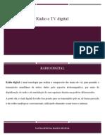 Rádio e TV digital slides
