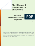 Articles 1223-1225 (Divisible and Indivisible Obligations)