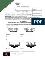 Guía de trabajo domiciliario de Matemática para 6° Básico