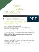 Dialectique, semantique et philosophie