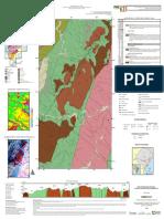 Mapa Geológico Geofísico Mina Campinas 50.000 (CPRM, 2019)