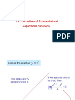 Lecture 3.8 Derivation of Exp & Log Functions