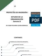SEMANA 8  ESTUDIO DE LA ORGANIZACION