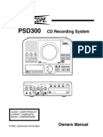 Superscope PSD300 English manual