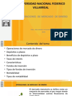 SEMANA 2 OPERACIONES DE MERCADO  DE CAPITALES