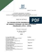 La législation pharmaceutique au Maroc durant le protectorat.pdf